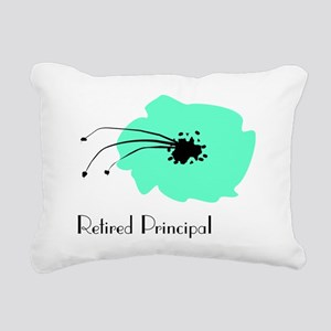 Retired Principal Blue F Rectangular Canvas Pillow