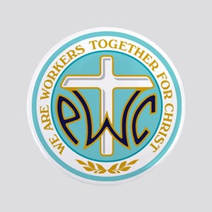 """PWOC Logo 3.5"""" Button"""