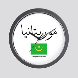 Mauritania Flag Arabic Wall Clock