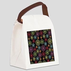 Periodic Shells (Dark) Canvas Lunch Bag