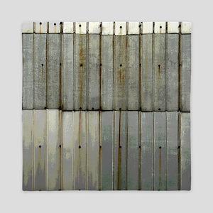 Tin Row Grunge Shower Curtain BU Queen Duvet