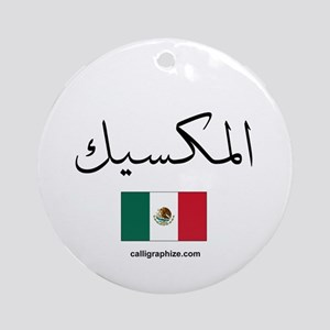 Mexico Flag Arabic Ornament (Round)