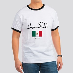 Mexico Flag Arabic Ringer T