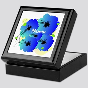 memaw blue flowers Keepsake Box