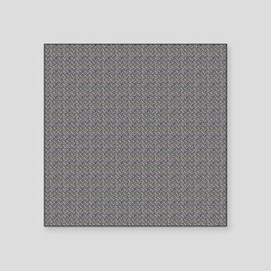"Diamond Metal Plate Industr Square Sticker 3"" x 3"""
