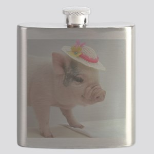 Micro pig with Summer Hat Flask
