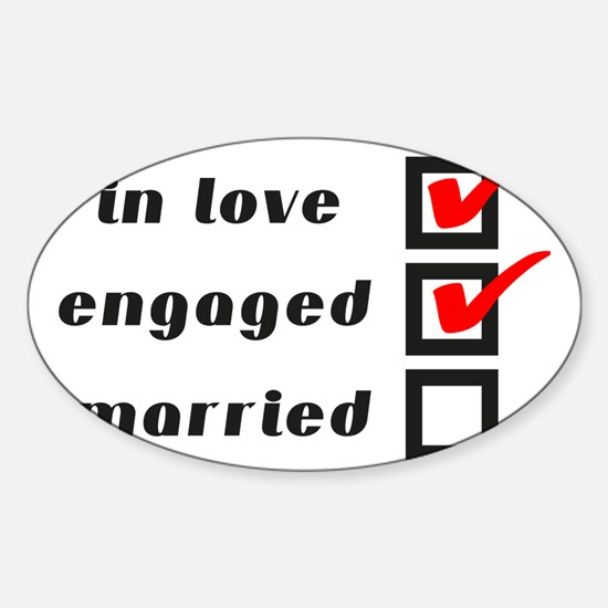 Engaged Sticker (Oval)
