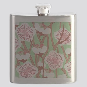 Elegant Cherry Blossom Flask