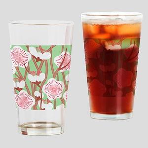 Elegant Cherry Blossom Drinking Glass