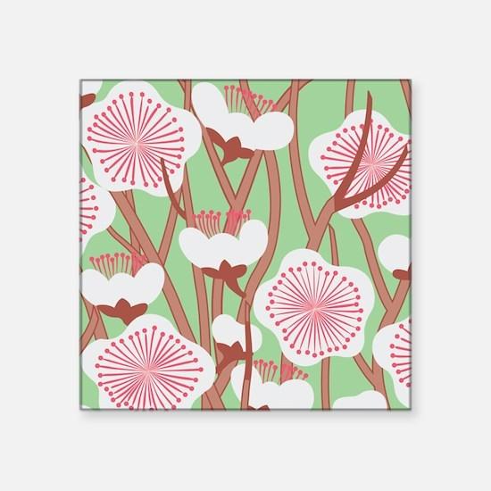 """Elegant Cherry Blossom Square Sticker 3"""" x 3"""""""