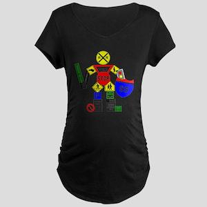 Street Sign Warrior Maternity Dark T-Shirt