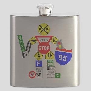 Street Sign Warrior Flask