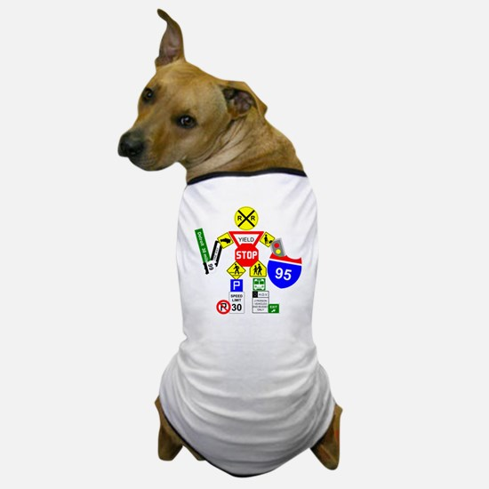 Street Sign Warrior Dog T-Shirt