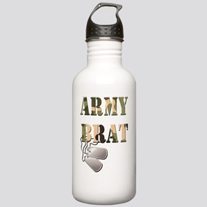 Army Brat  Dog Tags Stainless Water Bottle 1.0L