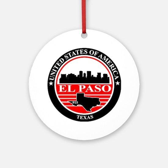 El paso logo black and red Round Ornament