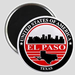 El paso logo black and red Magnet