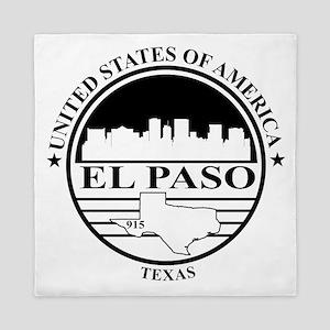 El Paso logo white and black Queen Duvet