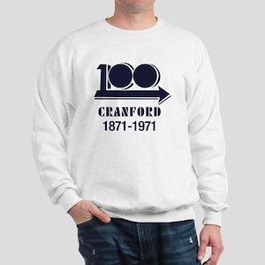 Cranford NJ 100th Anniversary 3.5 Butto Sweatshirt