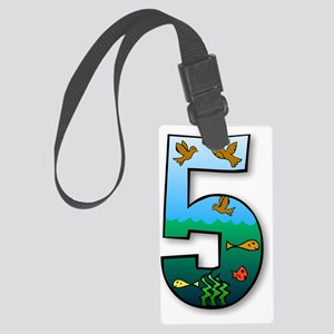 number five # 5 Large Luggage Tag