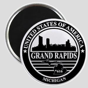 Grand rapids logo black and white Magnet