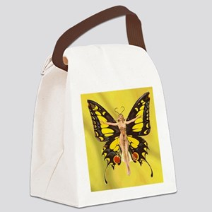 Butterfly Nouveau Canvas Lunch Bag
