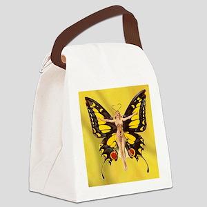 Butterfly Nouveau Canvas Lunch Bag
