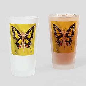 Butterfly Nouveau Drinking Glass