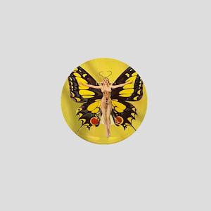 Butterfly Nouveau Mini Button