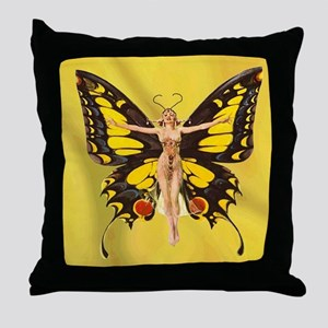 Butterfly Nouveau Throw Pillow
