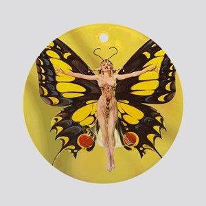 Butterfly Nouveau Round Ornament