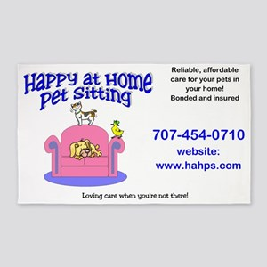 Happy at Home Pet Sitting 3'x5' Area Rug