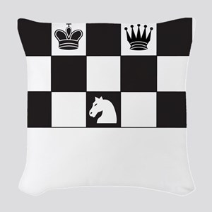 Royally Forked Woven Throw Pillow