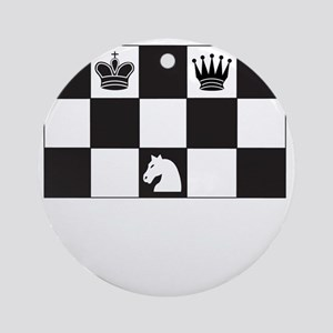 Royally Forked Round Ornament