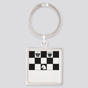 Royally Forked Square Keychain