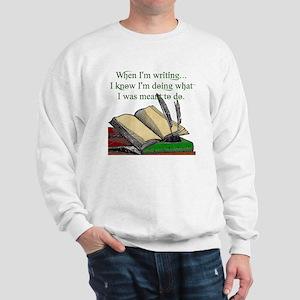 When I write Sweatshirt