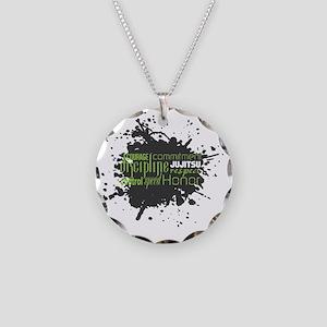 Jujitsu Inspirational Splatt Necklace Circle Charm