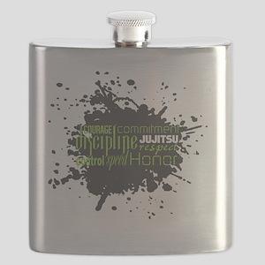 Jujitsu Inspirational Splatter Flask