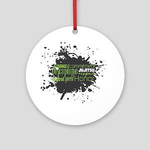Jujitsu Inspirational Splatter Round Ornament