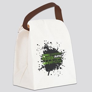 Jujitsu Inspirational Splatter Canvas Lunch Bag