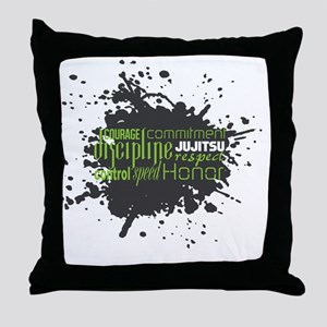 Jujitsu Inspirational Splatter Throw Pillow