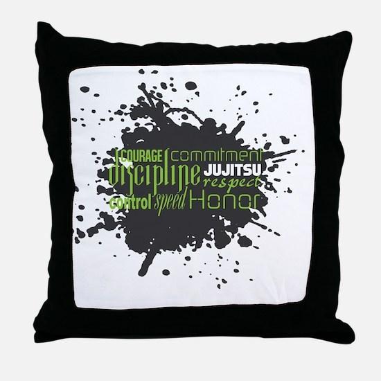 Jujitsu Inspirational Splatter Throw Pillow