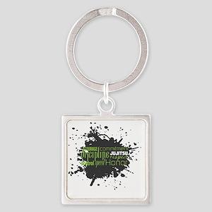 Jujitsu Inspirational Splatter Square Keychain