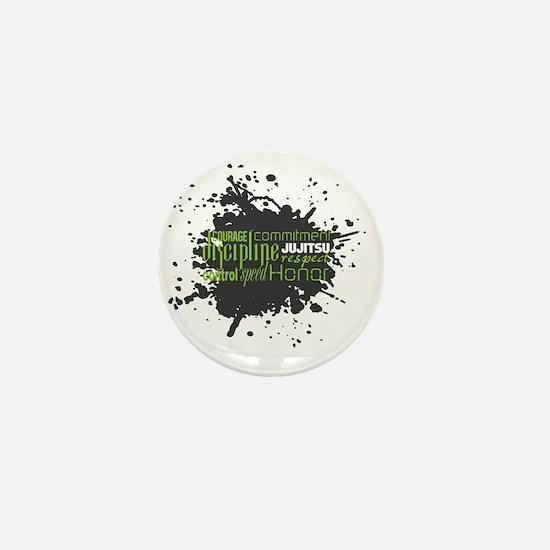 Jujitsu Inspirational Splatter Mini Button
