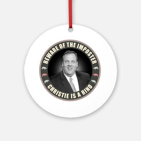 Christie Is A RINO Round Ornament