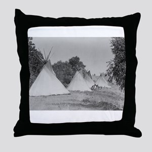 Camp Life NDN History Throw Pillow