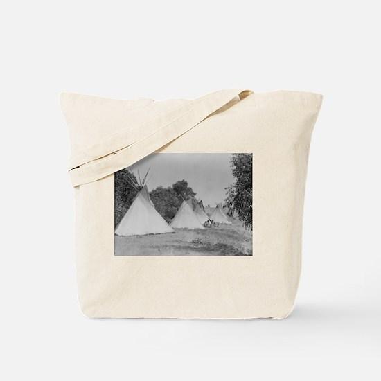 Camp Life NDN History Tote Bag