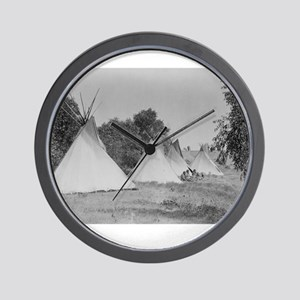 Camp Life NDN History Wall Clock