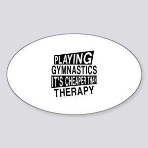 Awesome Gymnastics Player Designs Sticker (Oval)