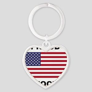 Democrat Pride (Flag) Heart Keychain