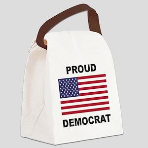 Democrat Pride (Flag) Canvas Lunch Bag